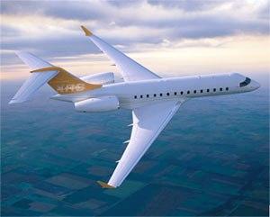 ACL社がチャーター運航しているボンバルディア社のGlobal Express