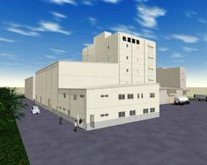 高級そば粉工場棟の完成予想図