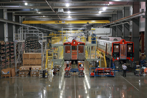 川崎重工、米国現地法人の鉄道車両工場を拡張