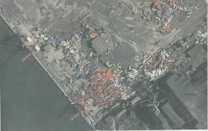 仙台港のコンテナヤードの状況(出典:三栄海運、クリックで拡大)