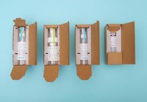化粧品包装部門賞を受賞した共通1個箱