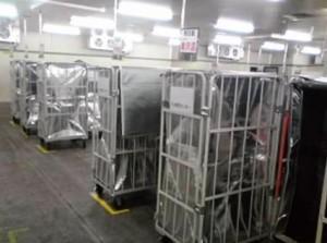 新たに拡張した冷凍庫とデジタルアソートシステム