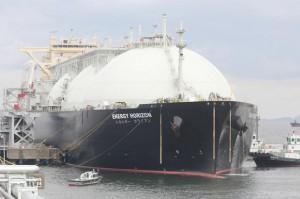 東京ガス袖ヶ浦工場にLNGを輸送したLNG運搬船