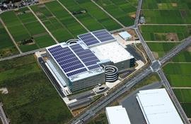 太陽光発電システムの導入イメージ(プロロジスパーク川島に太陽光パネルを合成)