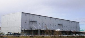 原木ロジスティクスセンターの外観