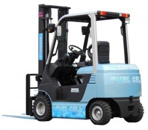 燃料電池フォークリフト実証実験車