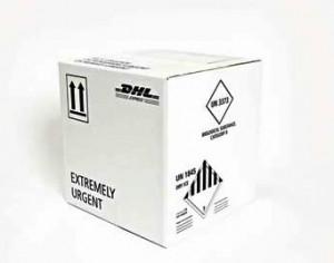 DHLメディカルエクスプレス専用の温度管理用梱包材