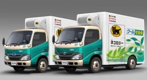 実証運行を行うEVトラック(冷凍冷蔵バン)