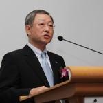 開所式で挨拶する栗和田榮一・SGホールディングス会長兼社長