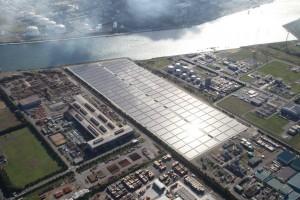 鹿島工場西地区で稼働を開始したメガソーラー発電所
