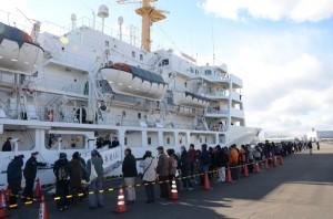 一般公開開始前の行列(出所:名古屋港管理組合)