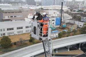 茨木市、三井倉庫で消防訓練