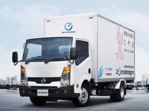 日産、富山市とEVトラックの実証運行を開始