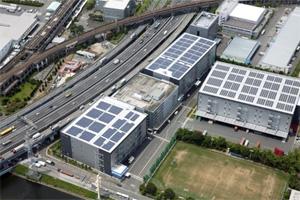 NTTロジスコ、千葉県市川市の拠点で太陽光発電開始