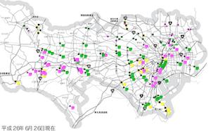 東京都内の道路冠水注意箇所マップを更新