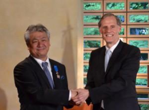 ニチレイロジグループ本社、仏国家功労勲章を受ける