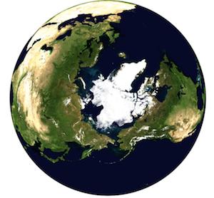 8月21日時点の北極海の海氷分布