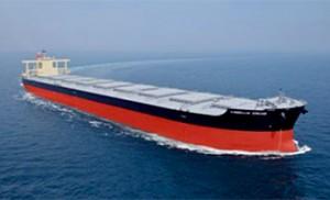 商船三井、高延性造船用鋼板採用の大型船が進水