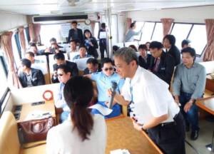 タイ・タマサート大の研究者らが横浜港を視察