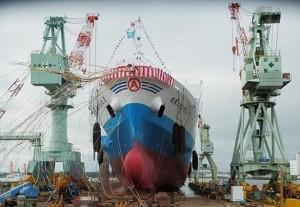 マルエーフェリー、石巻市で新RORO船進水
