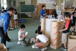 日通、山形県の小学校でエコ引越しテーマに出前授業