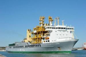 川崎汽船、重量物船で初の洋上風力向け作業