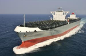 川崎汽船、1.4万TEU型コンテナ船の第1船が竣工
