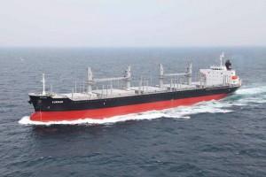 名村造船所、シリーズ13番船の3.4万トン型引渡し