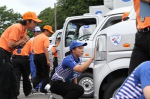 佐川急便、23回目のドラコン開催、女性選手増加