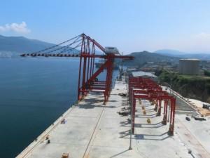 三井造船、トルコにコンテナ荷役機器20基納入