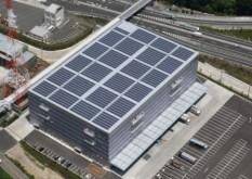 ギオン、相模原センターの屋根に太陽光パネル2352枚
