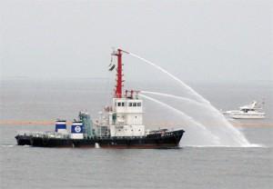 白島石油備蓄基地で防災訓練、貨物船衝突想定