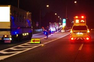NEXCO東、深夜の上信越道で全車引込の取り締まり