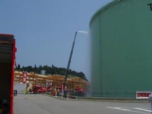 JOGMEC、七尾石油ガス備蓄基地で防災訓練