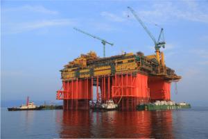 国際帝石、イクシスLNG向け主要施設が進水