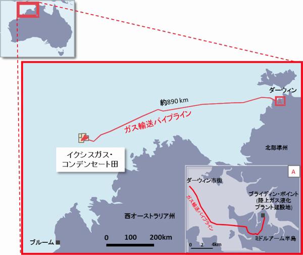 国際帝石、西豪州沖に890キロのパイプライン敷設