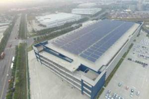 郵船商事、中国の完成車物流拠点で太陽光発電