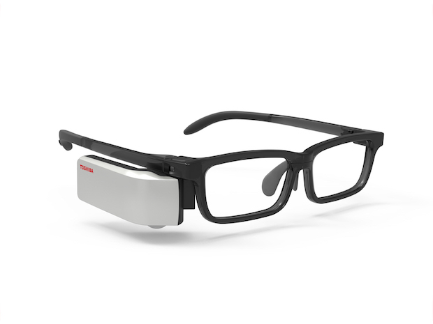 東芝、メガネ型ウェアラブル端末の受注開始