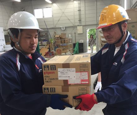 赤帽大分県、由布市・竹田市に救援物資輸送開始1