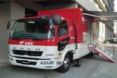 日本郵便、益城町で車両型郵便局サービス開始