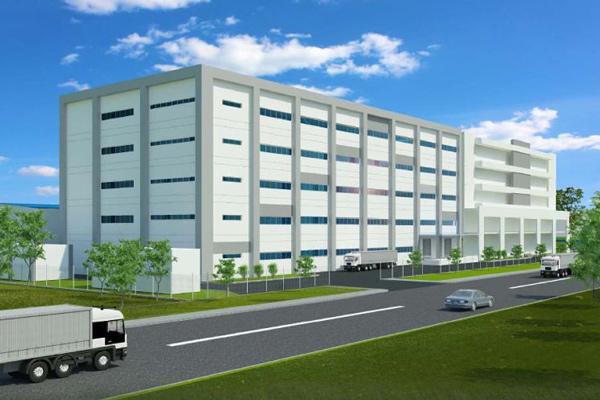 ▲新工場イメージ(左側建物)