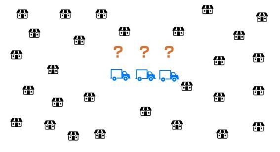 配送先100件・トラック10台の配送計画を27秒で算出