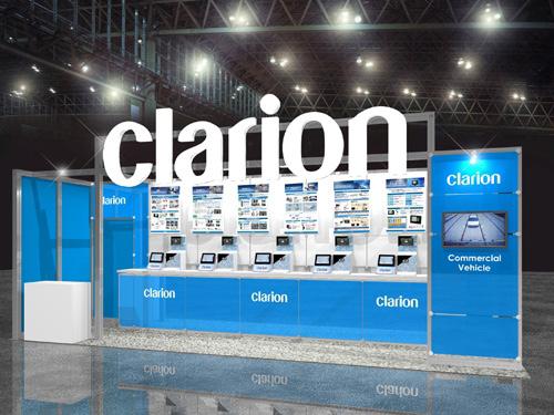 クラリオン、運輸EXPOで商用車向けシステム展示