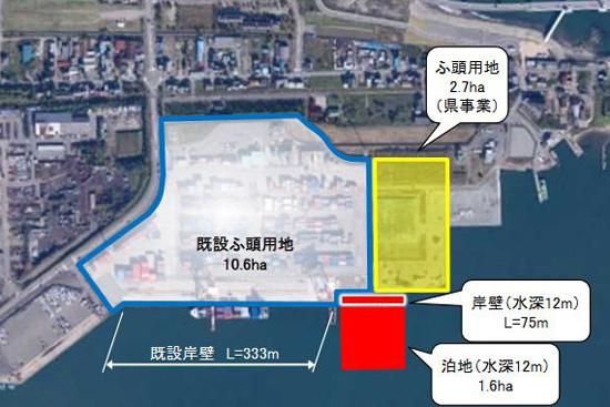 北陸地方整備局、伏木富山港の延伸整備に着工1