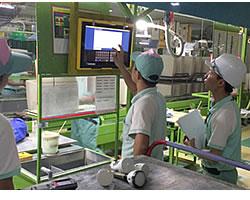 TOTO、ベトナム工場で生産・品質状況見える化