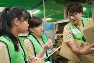アマゾンの小田原物流拠点で高校生が職業体験