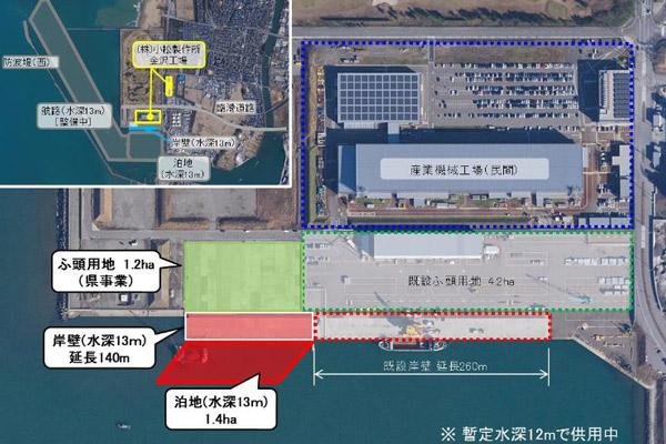 北陸地方整備局、金沢港物流ターミナル岸壁を拡張