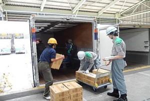 日本自動車ターミナル、足立TTで緊急物資輸送訓練