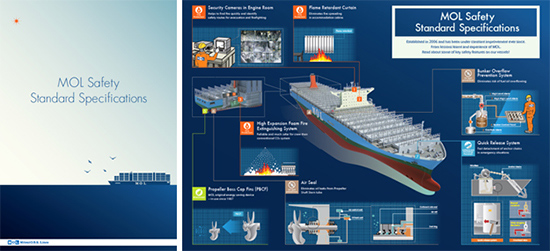 商船三井、自社運航船の安全仕様解説するパンフレット