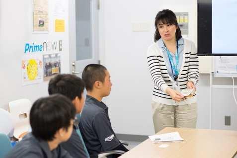 アマゾンの世田谷物流拠点で中学生が職場体験